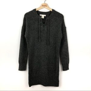 Kaisely l Dark Grey Knit Sweater Dress  S